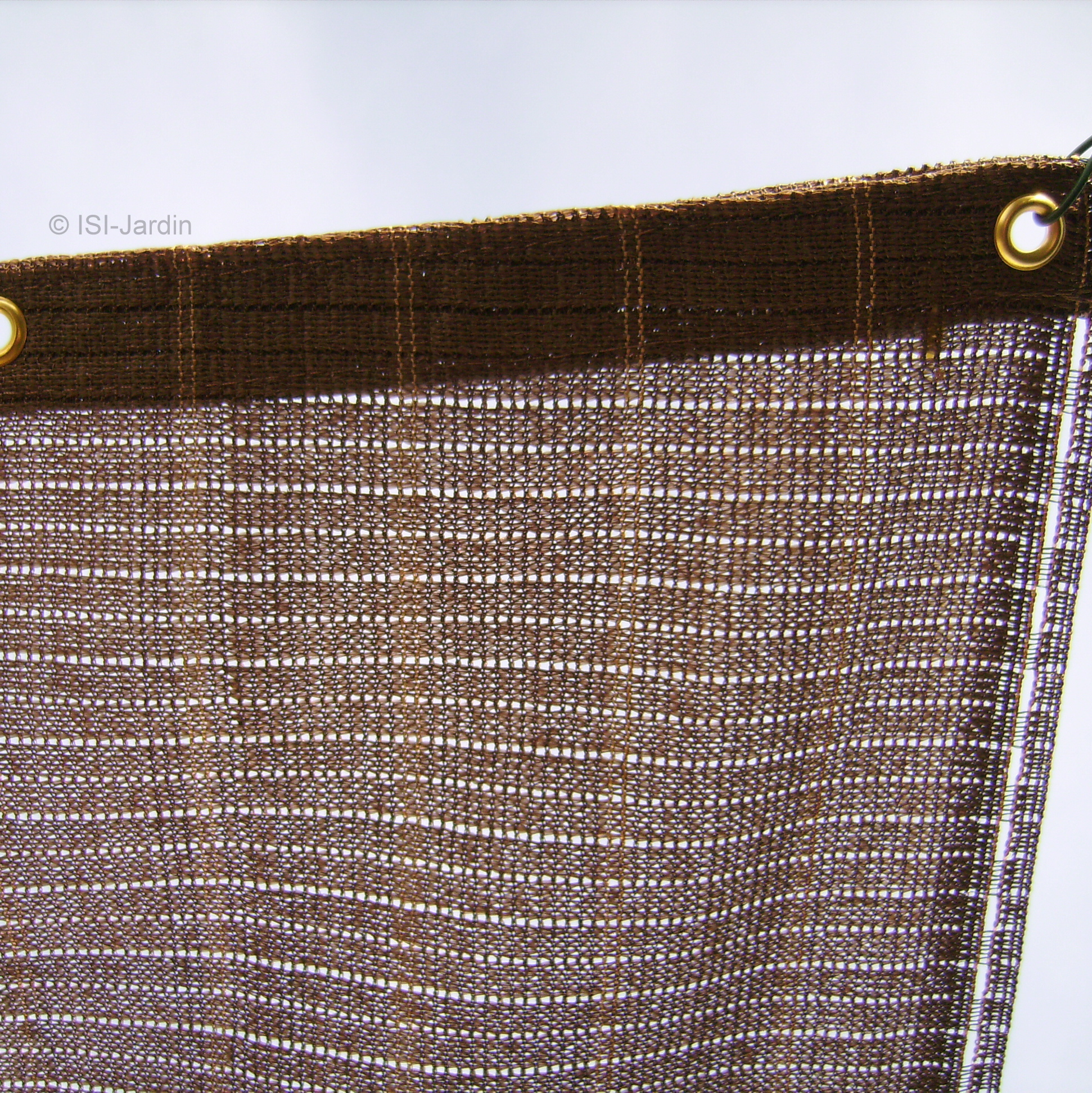 Toile Ombrage Au Metre toile d'ombrage 85% havana 4 mètres x 3 mètres marron